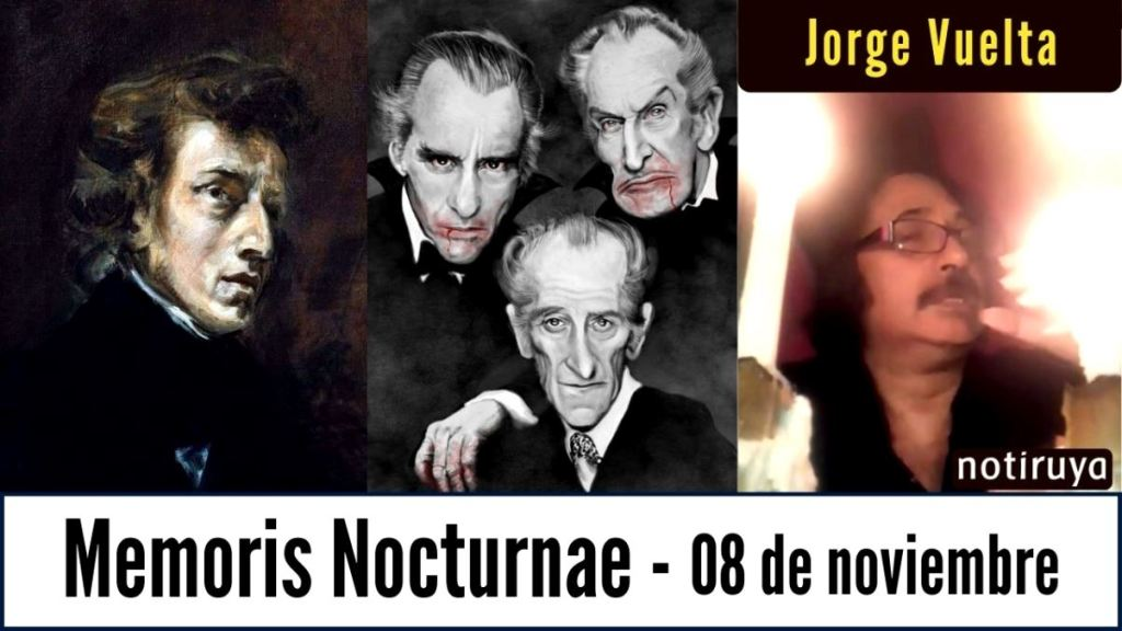 Memoris Nocturnae 08/11, efemérides culturales.