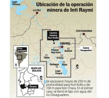 Ubicación de la empresa minera Inti Raymi
