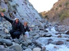 Junto al río San Isidro.