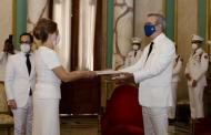Presidente Abinader recibe cartas credenciales embajadores Panamá y Turquía