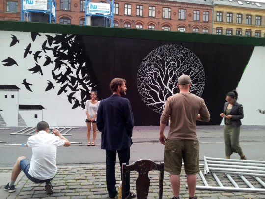 Vægmaleri på Sønder Boulevard, Vesterbro, København