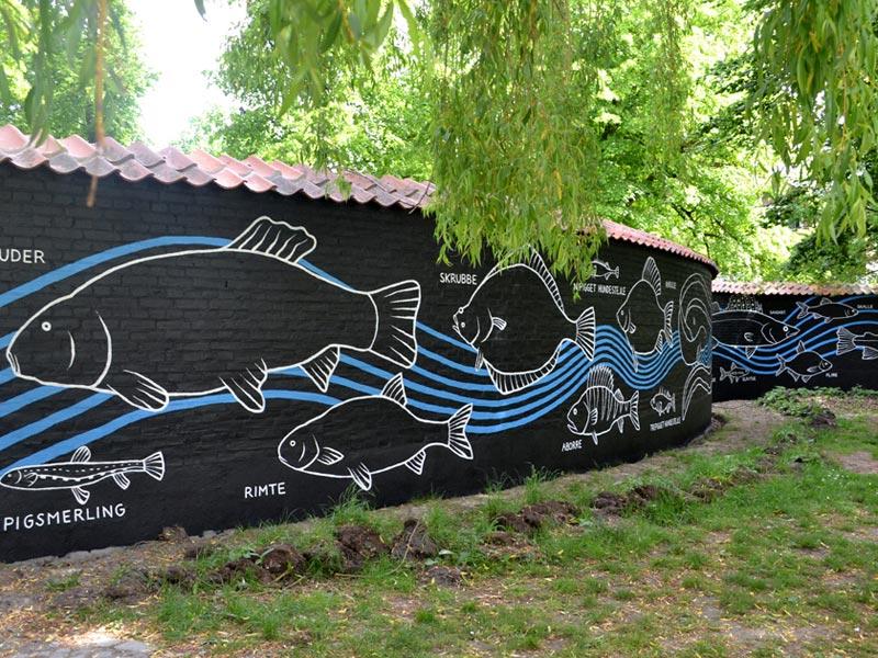 Mural City Fish Odense Denmark