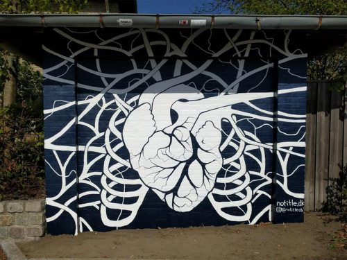 Mural Roskilde Sygehus Street Art Denmark