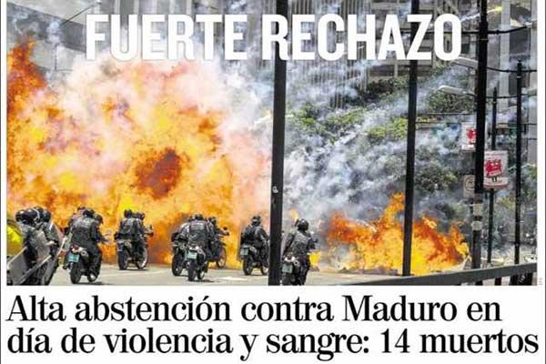 Resultado de imagen para prensa mundial y venezuela