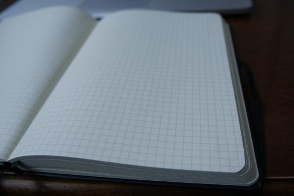 IDENA Notizbuch A5 karierte Innenseiten