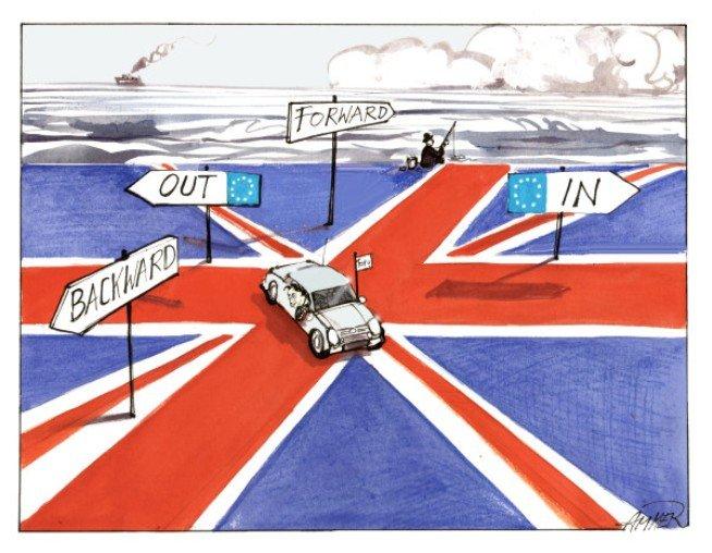 Il premier uscente James Cameron promette in campagna elettorale di indire un referendum per decidere l'uscita o no del Regno Unito dall'Unione Europea