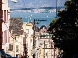 Il ricco quartiere di Nob Hill a San Francisco.