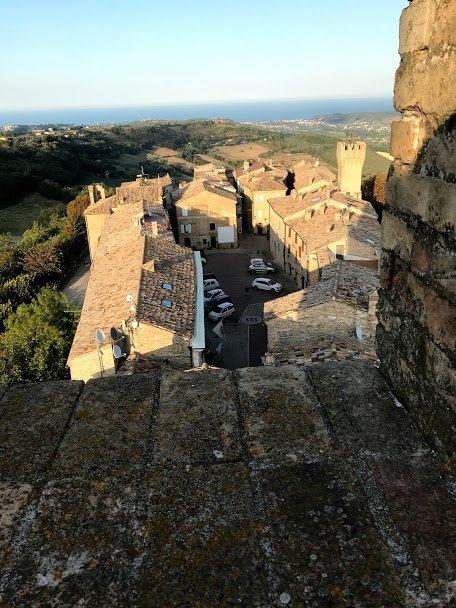 Veduta dalla torre eptagonale di Moresco