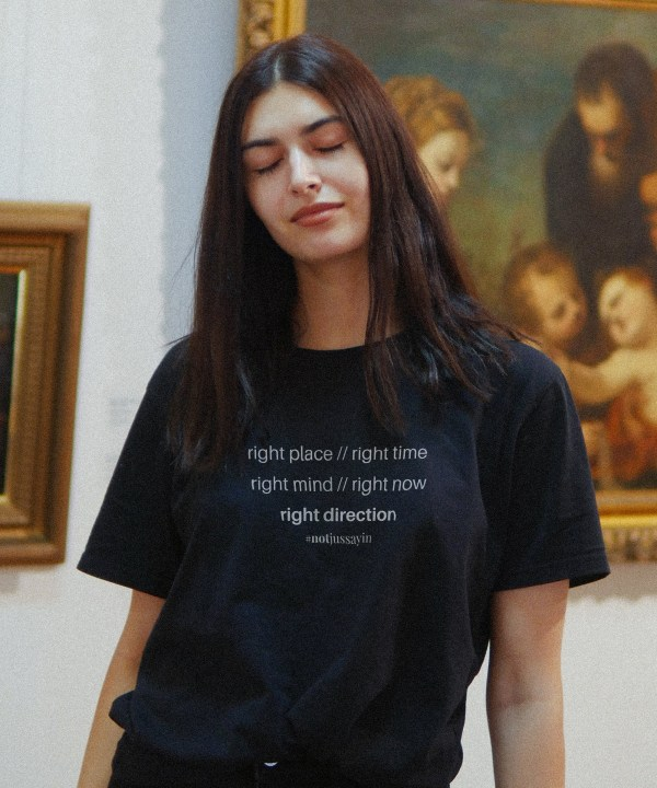 Right place right time right mind right now right direction quote t shirt