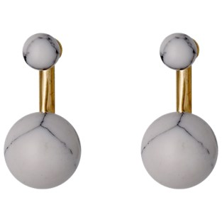 Marble detail earrings