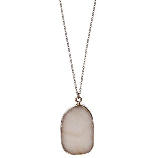 Nude rose gold necklace