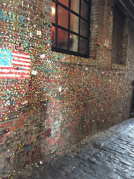 Quite patriot for chewed up gum!