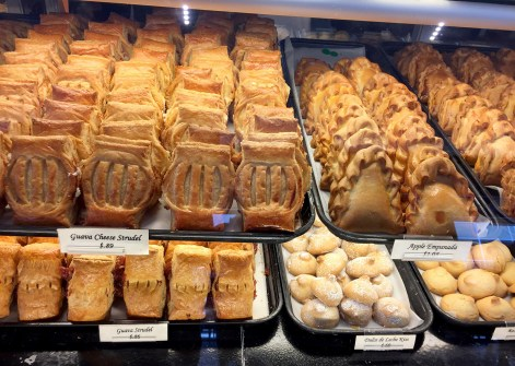 Strudels and empanada looking apple pastries