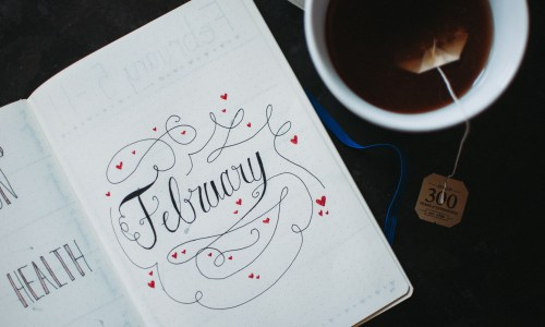 February, Bullet Journal Style