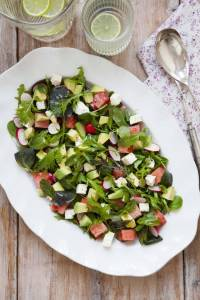 Day3 Feta Watermelon Avocado Salad