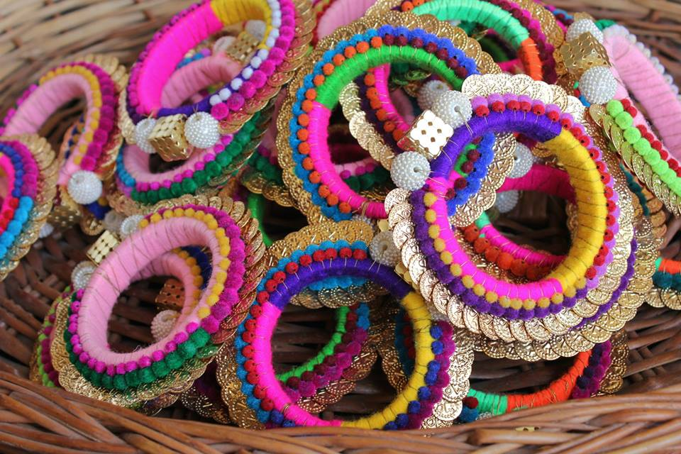 Bangles for that Pop of colour