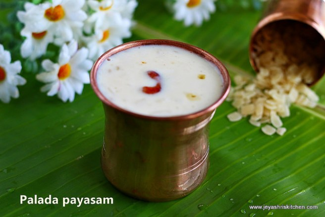 Time to end your virtual meal now...'Payasam' time via