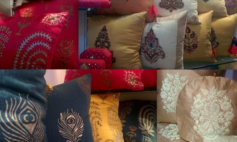 The Paisleys from the Taj Mahal inlay pattern and other Mughal motifs give this collection a regal touch