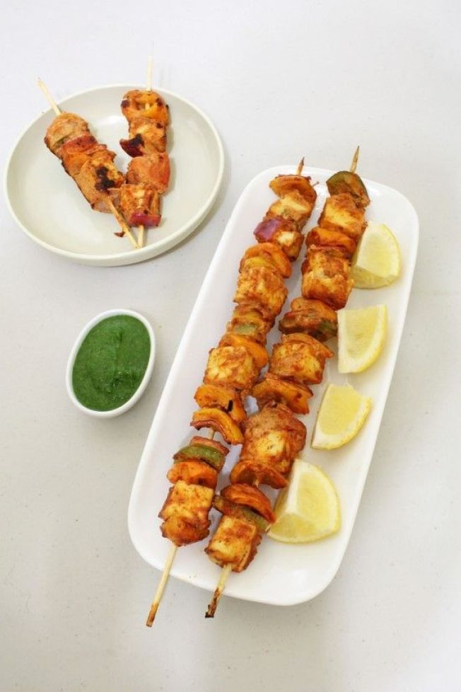 Paneer Tikka ; always on the 'wanted' dinner list via Spice up the curry
