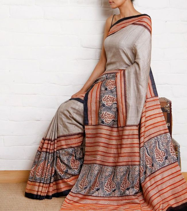 via http://minmit.com/clothing/index.php/tussar-silk-handwoven-saree-weavers-studio/