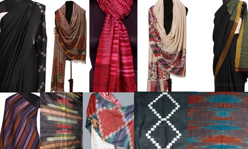 The Pashmina Ikat Collection for the Dastkar Design Fair - Sarees, shawls and scarves