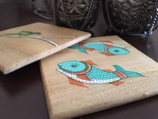 coasters, handmade, wood, craft