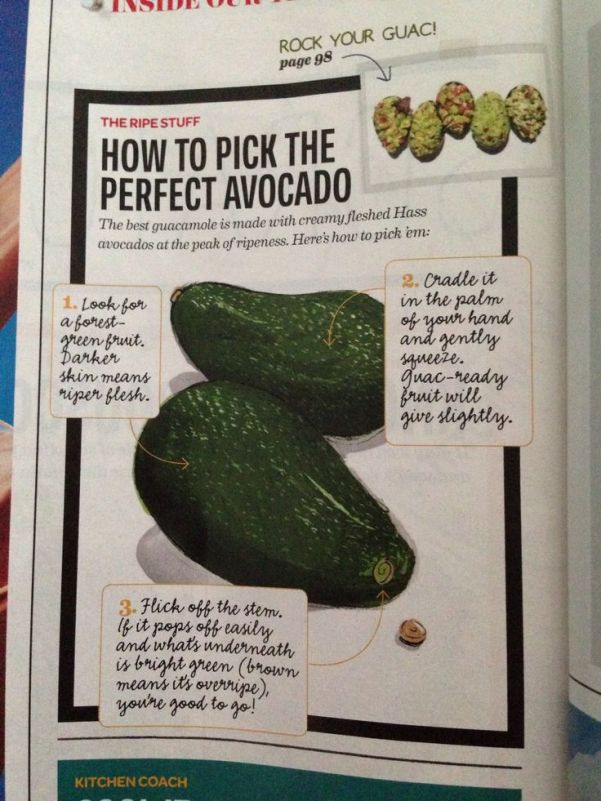 Another test to pick a nicely ripe Avocado via