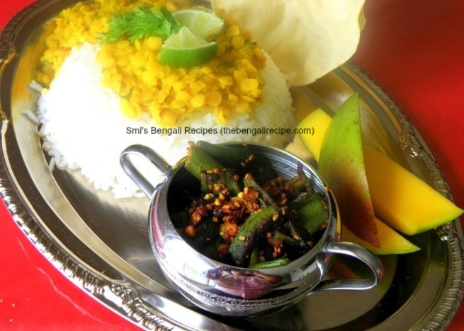 Dharoosh - Spicy 'Bhindi', served the Bengali way via