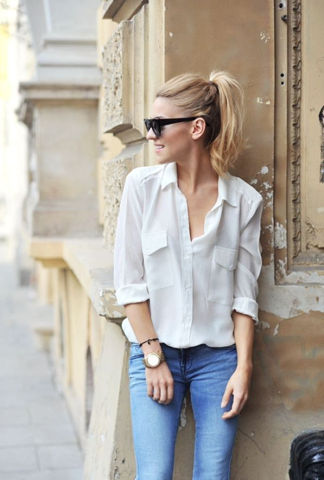 white-casual-shirt