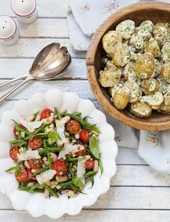 Delicious Bean and potato salad via