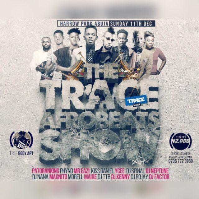 "TRACE NAIJA Presents: ""THE TRACE AFROBEATS SHOW"" This Sunday | WIN Tickets"
