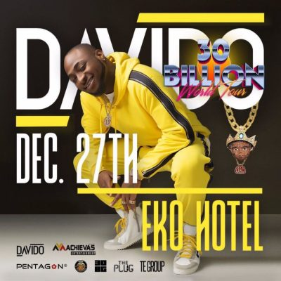 Davido Set To Crown Successful Year With 30 Billion Concert In Lagos