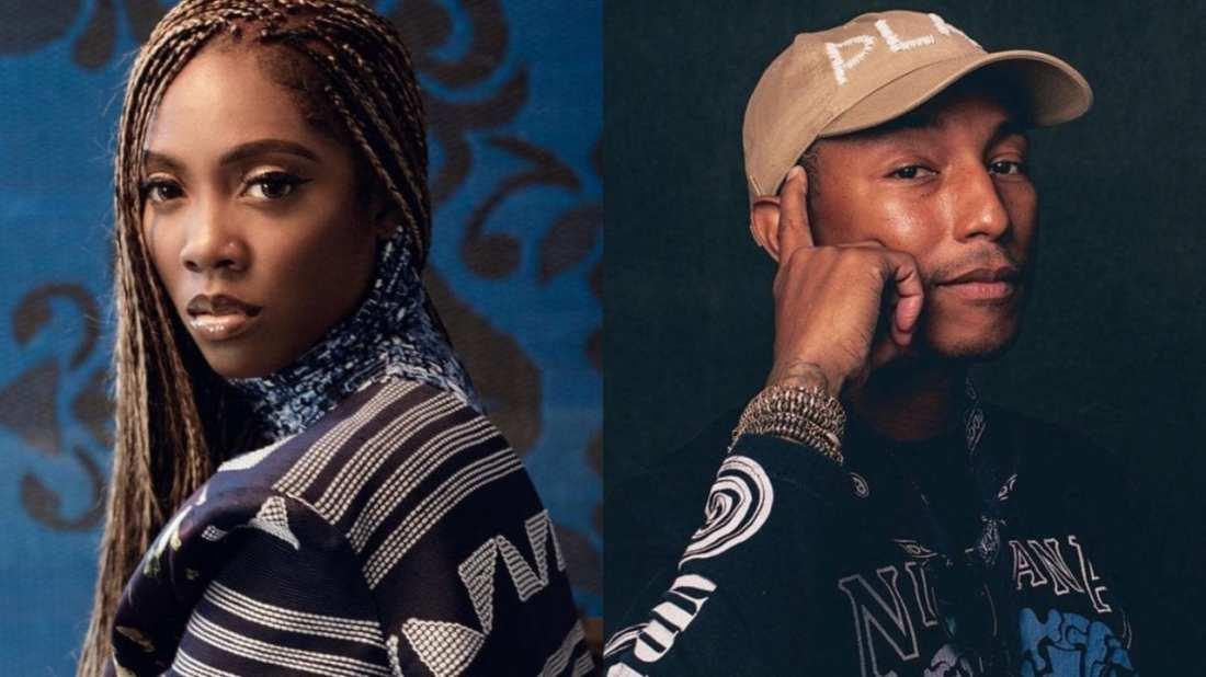 "Pharrell Williams Listens To Tiwa Savage's ""Water & Garri"" EP | WATCH"