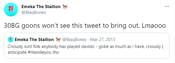 Blaqbonez Clashes With 30BG Fans Over Davido Tweet | NotjustOK