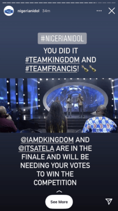 Nigerian Idol: Akunna Evicted From The Competition as Top 2 Emerge