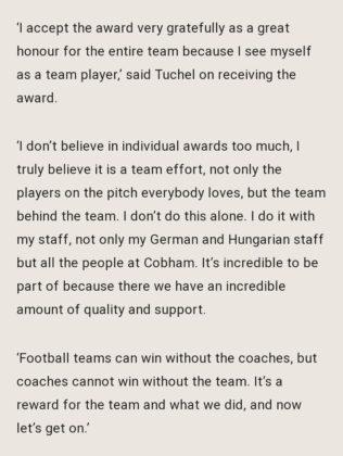Chelsea Coach, Thomas Tuchel Named Germany 'Coach Of The Year' Naijadiamond