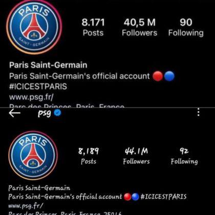 PSG Instagram followers