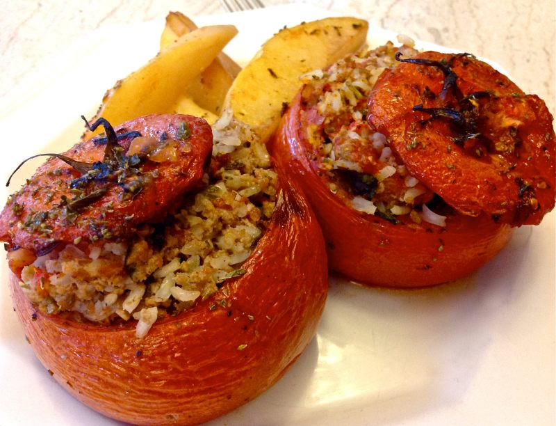 Image result for Greek Stuffed Tomatoes