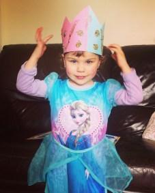 Princess & Superhero Day at Nursery, Plus the crown Phoebe made