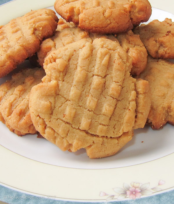 Peanut Butter Cookies on notjustspice.com