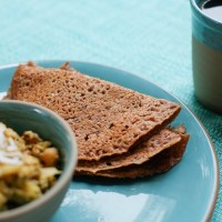 Quick Finger Millet Wheat Dosa | Ragi Wheat Dosa | Kezhvaragu Godumai Dosai