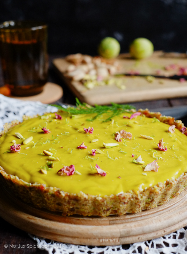 Raw, Vegan & Gluten Free: Avocado, Mango and Lime Mousse Tart on notjustspice.com