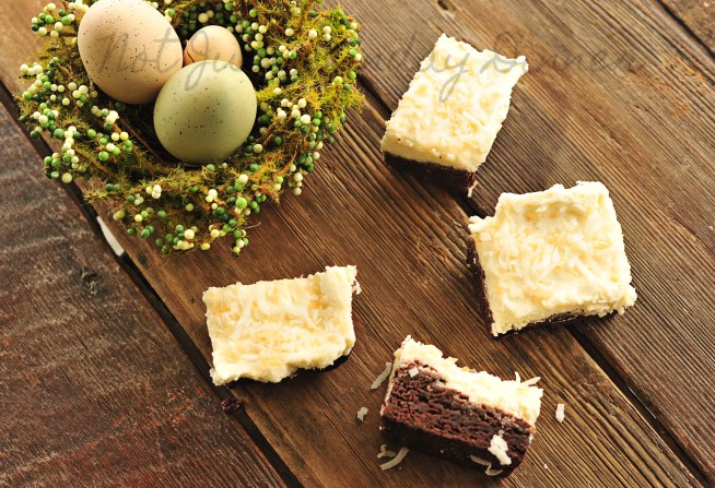 coconut frosted brownies