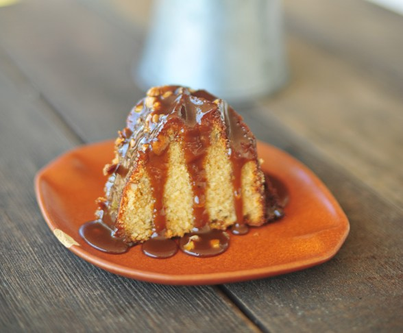 pecan pound cake with easy salted caramel sauce 5