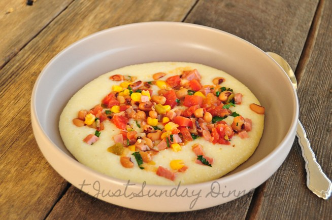 Hoppin John with White Cheddar Grits 6