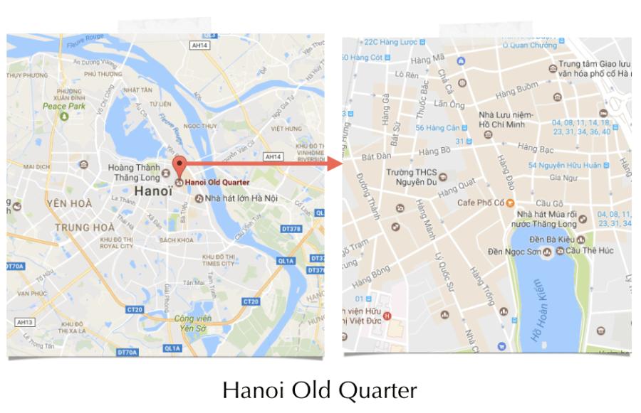 Old Quarter d'Hanoi pour acheter une moto au Vietnam - extrait du guide NotMad