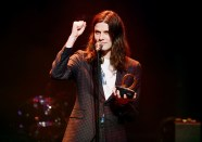 LONDON, ENGLAND - NOVEMBER 02: James Bay accepts the Best Solo award during The Stubhub Q Awards 2016 at The Roundhouse on November 2, 2016 in London, England. (Photo by Dave J Hogan/Dave J Hogan/Getty Images)