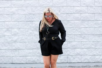 black NNB long sleeve romper