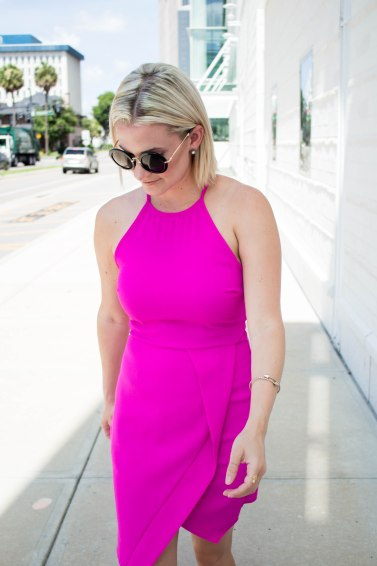 Not Necessarily Blonde_Hot Pink Dress-256