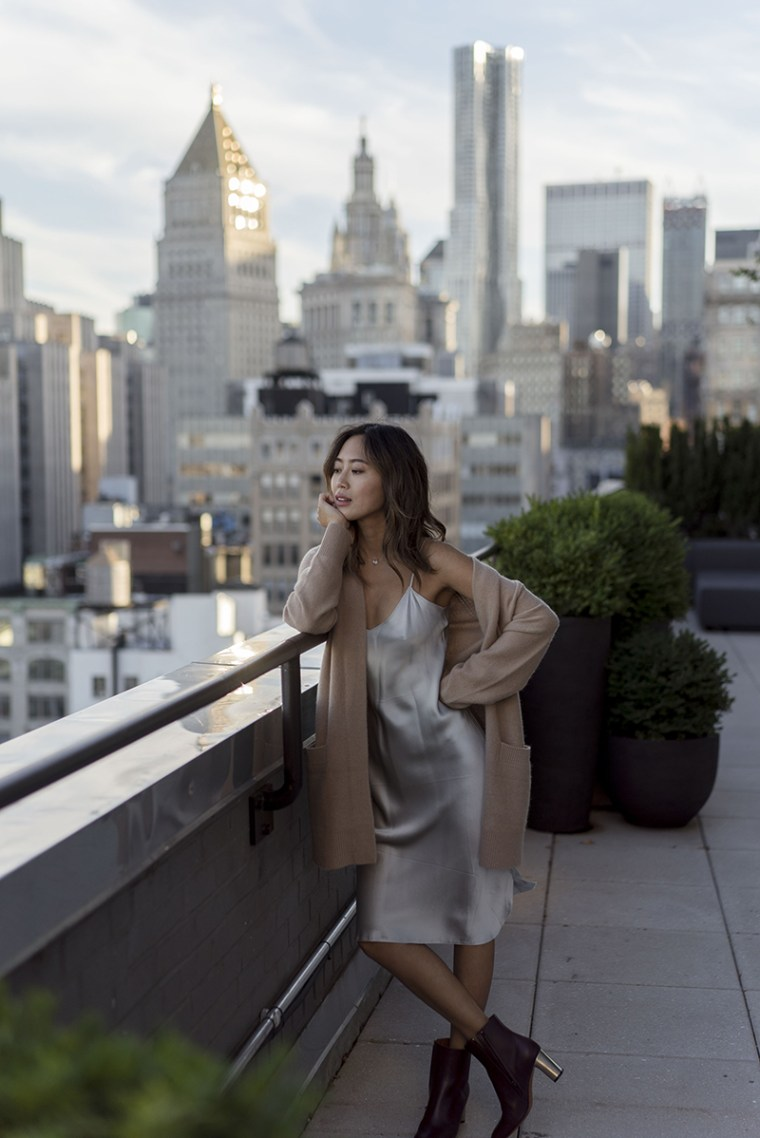 aimee_song_of_style_nyfw_vince_cardigan_nini_lota_cami_dress_celine_boots